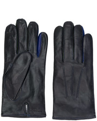 Guantes de lana azul marino de Paul Smith