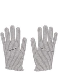 Guantes de lana de punto grises de MM6 MAISON MARGIELA