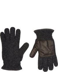 Guantes de lana en gris oscuro
