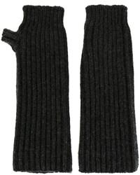 Guantes de lana en gris oscuro de Marni