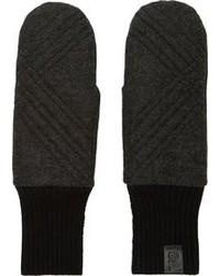 Guantes de lana en gris oscuro de Y-3