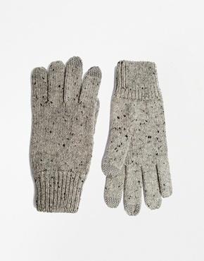 Guantes de lana grises de Asos