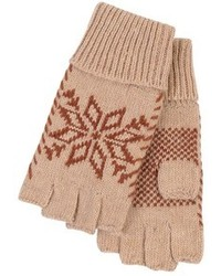 Guantes de lana marrón claro