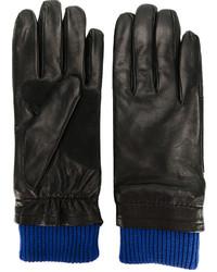 Guantes de lana negros de AMI Alexandre Mattiussi