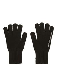 Guantes de lana negros de C2h4
