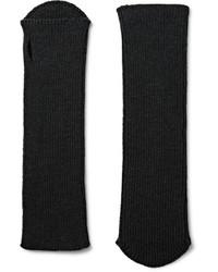 Guantes de lana negros de Dries Van Noten