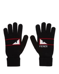 Guantes de lana negros de Fendi