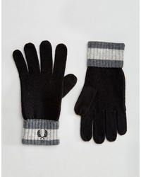 Guantes de lana negros de Fred Perry