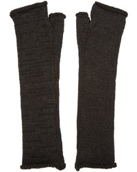 Guantes de lana negros de Isabel Benenato