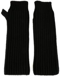 Guantes de lana negros de Marni