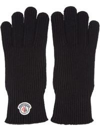 Guantes de lana negros de Moncler