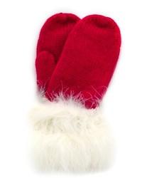 Guantes de lana rojos de Kate Spade