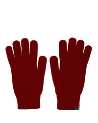 Guantes de lana rojos de Ps By Paul Smith