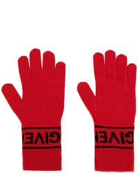 Guantes de punto rojos de Givenchy