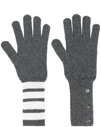 Guantes en gris oscuro de Thom Browne