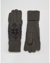 Guantes Gris Oscuro de French Connection