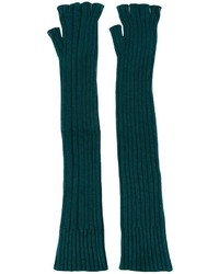 Guantes largos de lana verde oscuro de Maison Margiela