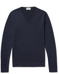Jersey azul marino de John Smedley