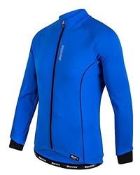 Jersey azul de Santini