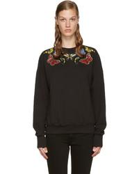 Jersey bordado negro de Alexander McQueen