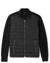 Jersey con cremallera acolchado negro de Tom Ford