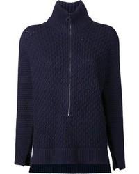 Jersey con cremallera azul marino de 3.1 Phillip Lim