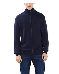 Jersey con cremallera azul marino de Esprit