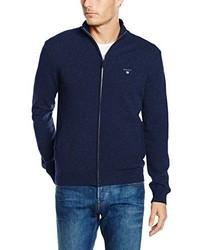 Jersey con cremallera azul marino de Gant