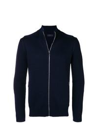 Jersey con cremallera azul marino de Prada