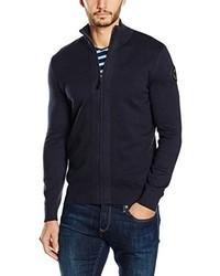 Jersey con cremallera azul marino de Tom Tailor