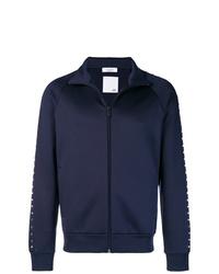 Jersey con cremallera azul marino de Valentino
