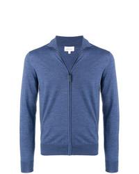 Jersey con cremallera azul de Brioni