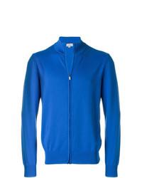 Jersey con cremallera azul de Canali
