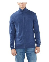 Jersey con cremallera azul de Esprit