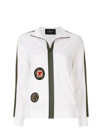 Jersey con cremallera blanco de Mr & Mrs Italy