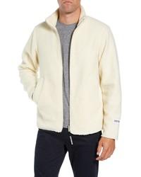 Jersey con cremallera de forro polar blanco