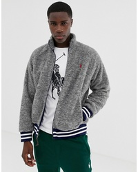 Jersey con cremallera de forro polar gris de Polo Ralph Lauren