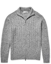 Jersey con cremallera de punto gris de Brunello Cucinelli