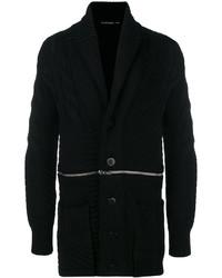 Jersey con cremallera de punto negro de Alexander McQueen