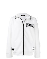 Jersey con cremallera en blanco y negro de Fendi