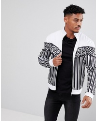 Jersey con cremallera en blanco y negro de Jaded London