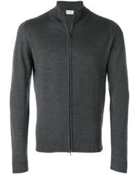 Jersey con cremallera en gris oscuro