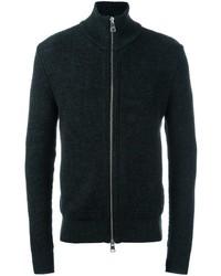 Jersey con cremallera en gris oscuro de AMI Alexandre Mattiussi