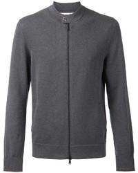 Jersey con cremallera en gris oscuro de Brunello Cucinelli