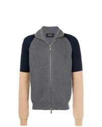 Jersey con cremallera en gris oscuro de DSQUARED2