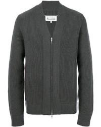 Jersey con cremallera en gris oscuro de Maison Margiela