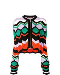 Jersey con cremallera en multicolor de Versace