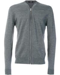 Jersey con cremallera gris de DSQUARED2