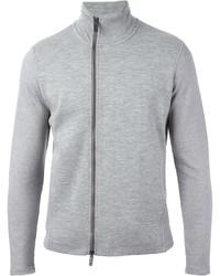 Jersey con cremallera gris de Emporio Armani