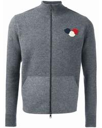 Jersey con cremallera gris de Moncler